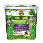 COMPO FLORANID Rasendünger gegen Unkraut + Moos Komplett-Pflege 9 kg