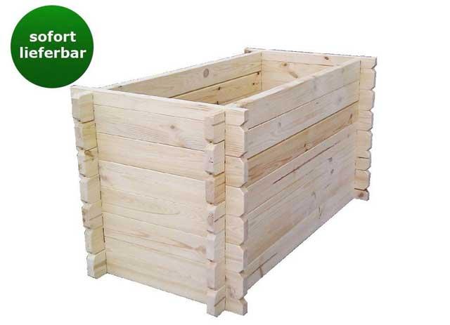 Hochbeet Bausatz Blockbohlen