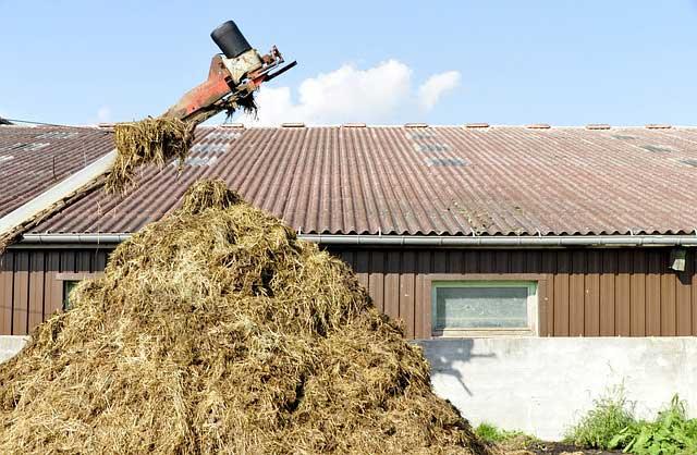 Rasenduenger organisch besteht oft aus Abfallprodukten der Landwirtschaft
