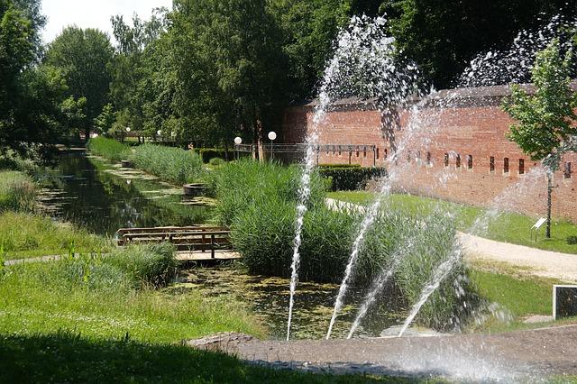 Teichpumpe als Basis für einen Springbrunnen